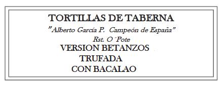 Tortillas de Taberna